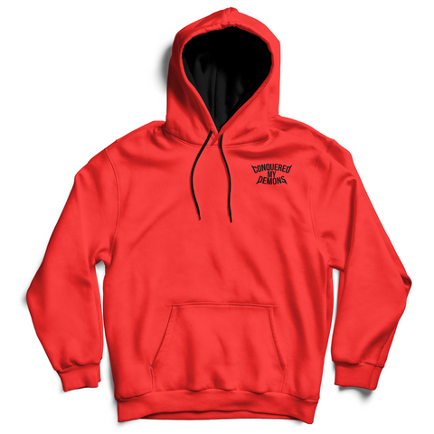 "The ""CONQUERED MY DEMONS"" Hoodie (Red)"