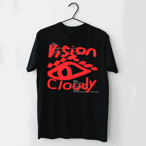 "The ""CLOUDY VISION"" Tee (Black)"