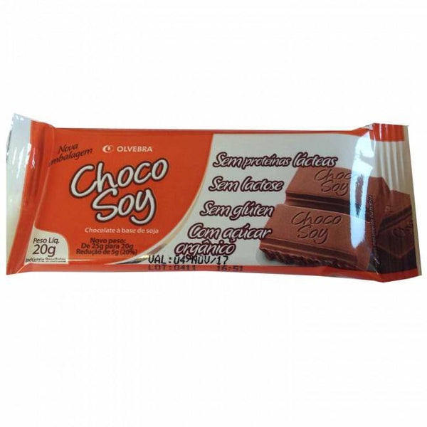 "Chocolate de Soya ""Choco Soy"" Snacks y Chocolates Olvebra"