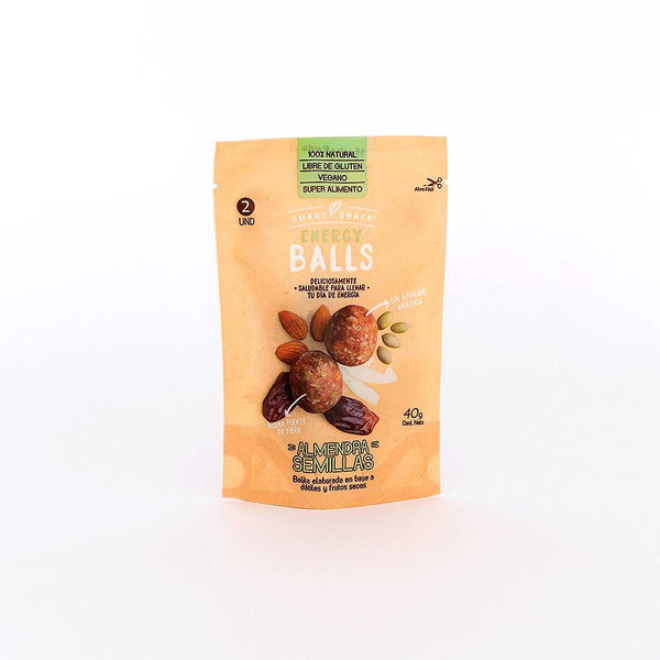 Energy Balls Almendra Semillas Alimentos Saludables Smart Snack