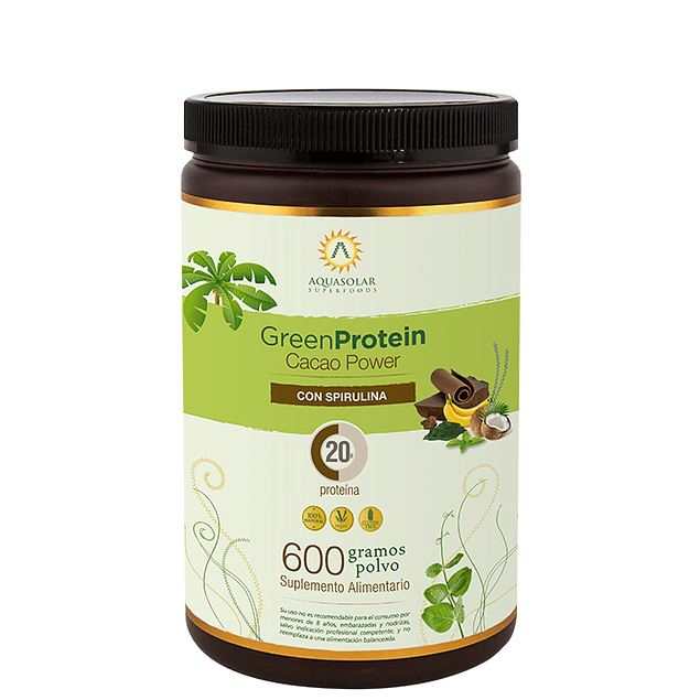 Green Protein Cacao Power Alimentos Saludables AquaSolar