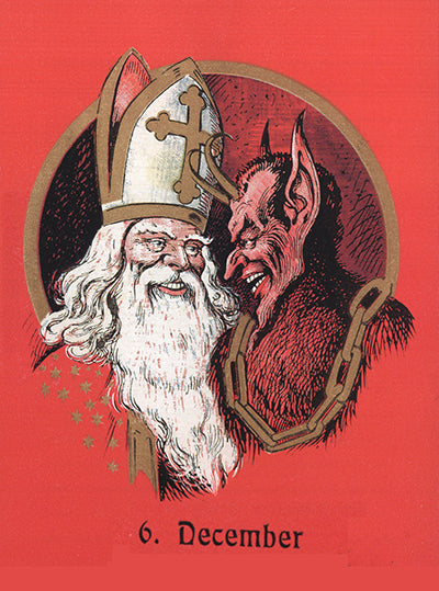 Nikolaus and Krampus Greeting Card
