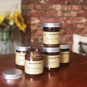 Our collection of Aromatherapy candles might just be the perfect excuse to take some time out, get creative, or cleanse your space! In a variety of scents and designs, there's sure to be a candle for everybody!