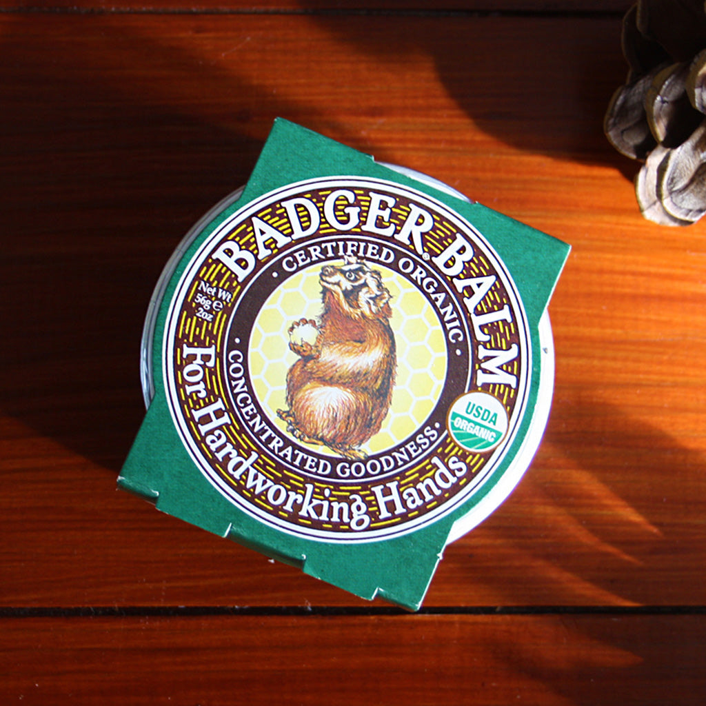 Our Badger Balm is perfect for all you hard workers out there! Great for the gardener in your life, or just as a handbag go-to during those harsh Winter months. With organic virgin olive oil and beeswax, our Balm is rich in natural ferments, enzymes, E vitamins and essential fatty acids.