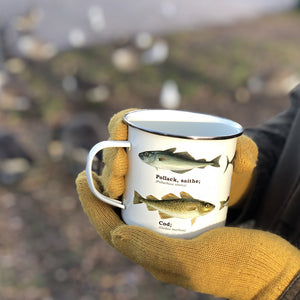 We are in love with our ecology enamelware mugs - This one is perfect for the fisherman in your life, or for your own adventure! Whether it's a weekend away, to brighten up the kitchen or as a gift, these mugs are a perfect eco-friendly alternative to disposable cups. Embrace nature with this enamel mug with all over fish print. Enjoy at home or out and about with these versatile mugs, available in a range of styles!