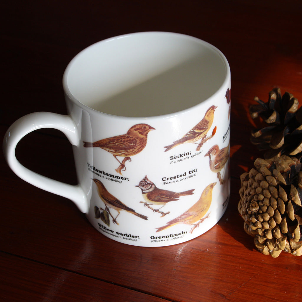 One of our absolute favourites - spot all the birds you can on this superb quality mug which perfectly captures your favourite classic garden birds all together and beautifully illustrated.