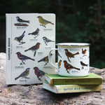 Load image into Gallery viewer, A collection of our favourite garden birds perched on the cover of this great quality A5 notebook. This sturdy ruled notebook is perfect for keeping your thoughts together, or for long woodland walks spotting a collection of creatures. Sturdy and wipeable, a Pretty Odd office favourite.