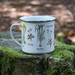 Load image into Gallery viewer, We are in love with our ecology enamelware mugs - This one is a perfect celebration of wildflowers! Whether to brighten up the kitchen, to make your guests smile, or as a gift, these mugs are a perfect eco-friendly alternative to disposable cups. Embrace nature with this enamel mug with all over wildflower print. Enjoy at home or out and about with these versatile mugs, available in a range of styles!