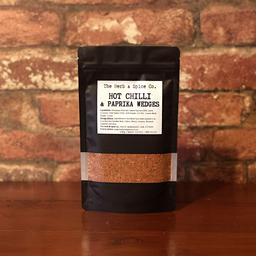 This hot chilli and paprika blend contains no added sugar or artificial ingredients. Great sprinkled generously over fries or wedges before cooking in the oven or after deep frying. Sprinkle a little extra after cooking for a hit of extra heat!
