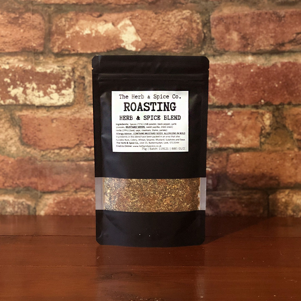 A unique blend of roasting herbs and spices to complete your Sunday dinner, or to spice up a midweek roast! Great for gravy, potatoes or meats! A carefully crafted blend including cracked black pepper; rosemary; garlic and thyme. Perfect for meats and fish, this blend can be used as a rub or a sprinkling to your dish!