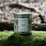 Load image into Gallery viewer, Part of the St. Eval Folk Collection, Oak is a soft and woody oakmoss scent cosseted in rich, warm spice. A masculine fragrance, this scent captures the feeling of walking through a secret forest and stumbling through folk stories of old, Robin Hood or King Arthur - an enchanting escape from the modern day.