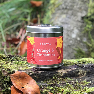 Our St. Eval Orange & Cinnamon candle is truly a sense of the season in a tin! An annual favourite - this warm and tangy fragrance perfectly balances sweet with a zesty spice and is sure to evoke that festive feeling!