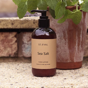 Our popular St. Eval Sea Salt hand lotion combines natural plant extracts for nourishing your hands, with a delicate scent of the ocean. A unique blend of ozonic and citrus scents gives the illusion of the seaside in a bottle! A perfect gift for him or her, combine with our St. Eval Sea Salt candle for a true trip to the seaside.
