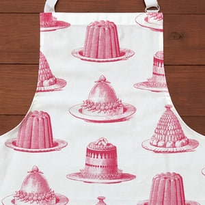 Be the star baker with our gorgeous hand printed 100% cotton aprons! In a mouth watering raspberry pink Jelly & Cake design, this apron conjures up the feeling of kitchens of the past - crafting those perfect creations not just at seasonal celebrations, but all year round! Get practicing in this high quality Thornback & Peel treat!