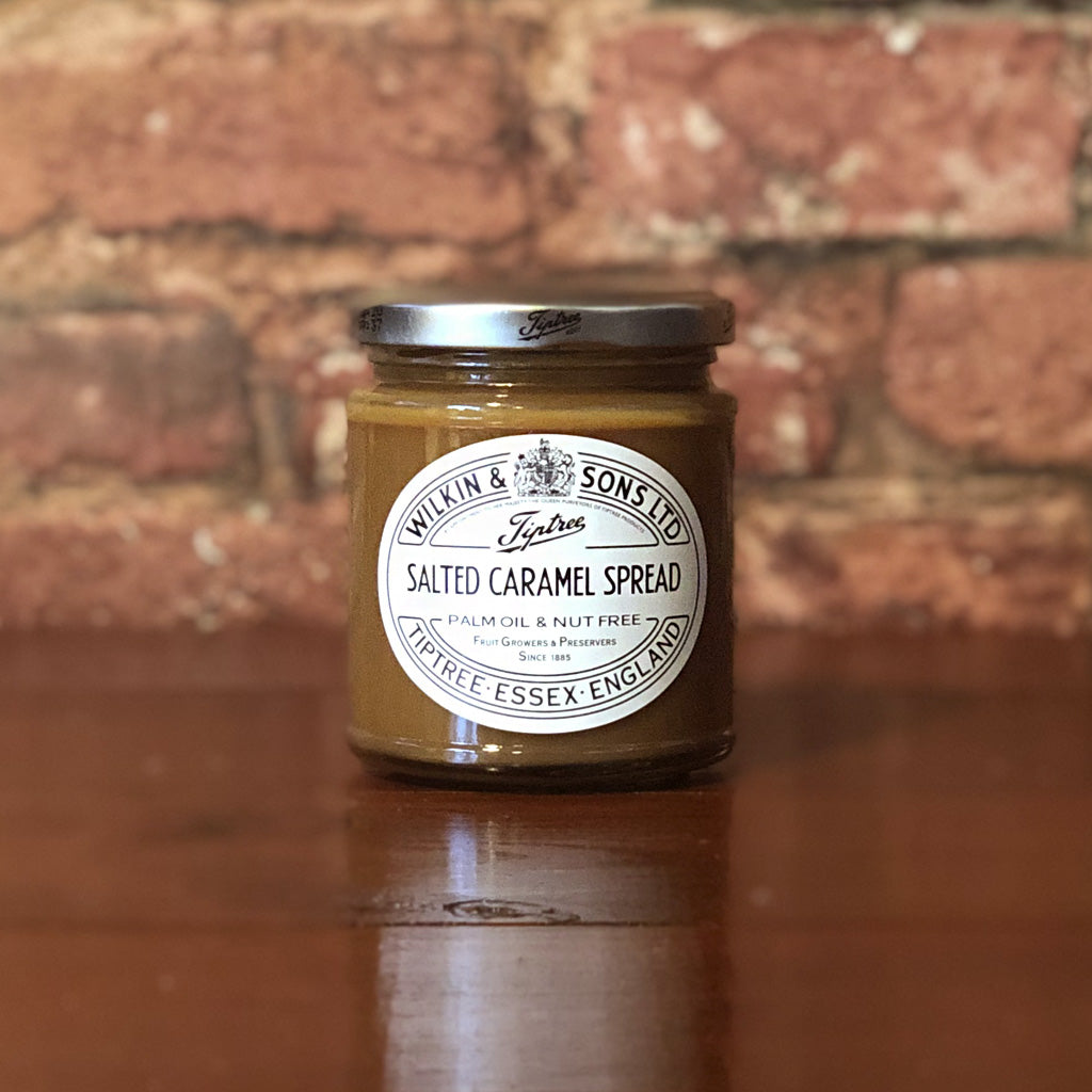 Our Tiptree Salted caramel spread from Wilkin & Sons is the perfect treat whether it's drizzled over ice-cream, used in baking or spooned straight from the jar! Produced in their nut free factory, this popular spread is a luxurious treat made with Maldon Sea Salt, perfect for a loved one, or for yourself!
