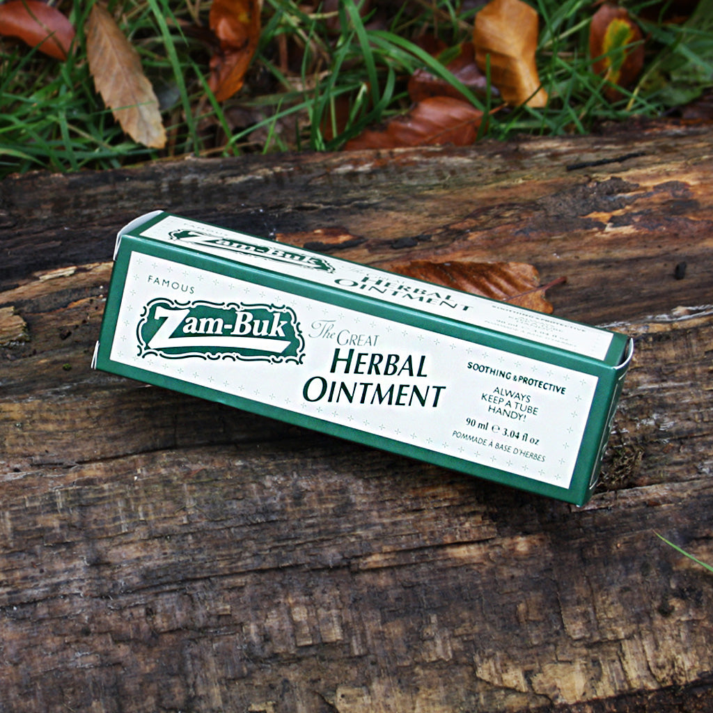 Zam-Buk is an anti-septic formula dating back to the Victorian era. Naturally fragranced with pine, thyme and eucalyptus oils, this ointment contains Vitamin Pro-V5 and shea butter to intensively moisturise skin and Vitamin E to help protect skin.