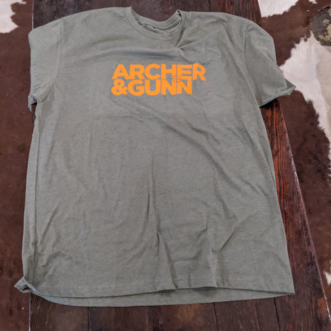 Archer & Gunn  -  Alternative Logo T - Military Green