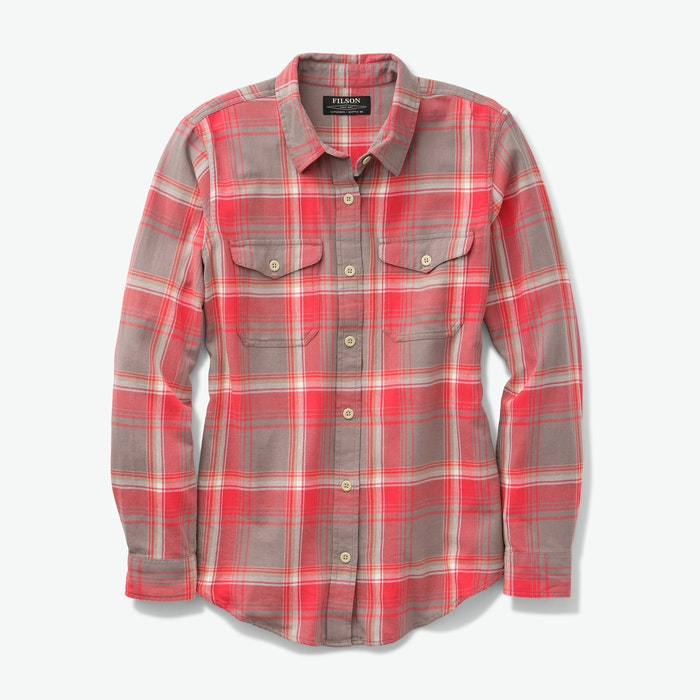 Women's Scout Shirt - Grey/red/white plaid