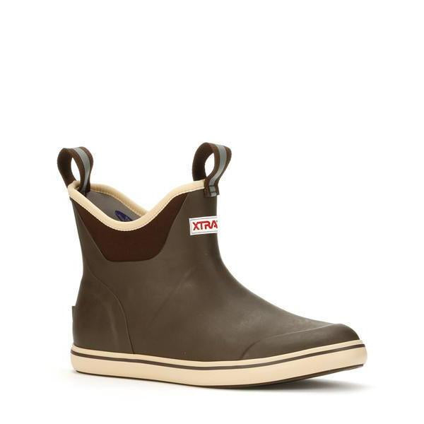 MEN'S 6 IN ANKLE DECK BOOT - BROWN