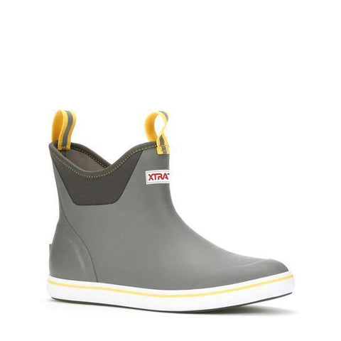 MEN'S 6 IN ANKLE DECK BOOT - GRAY