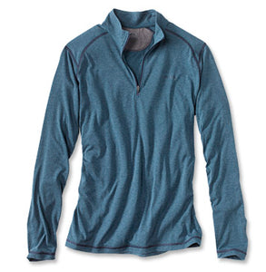 DRIRELEASE 1/4 ZIP L/S - Desert blue