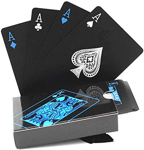 Waterproof PVC Playing Cards Set Pure Color Black Poker Card Classic