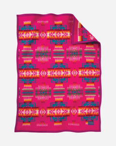 Chief Joseph Crib Blanket - Cherry