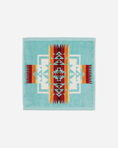 Jacquard Wash Cloth - Aqua