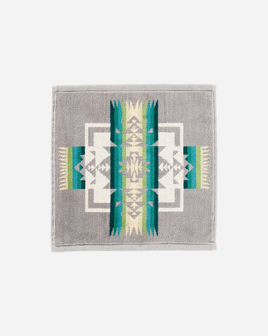 Jacquard Wash Cloth - Grey