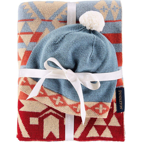 Knit Sherpa Baby Blanket and Beanie Gift Set Canyonlands One Size