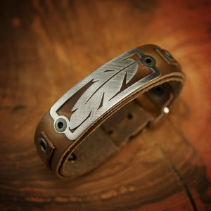 Feather 2.0 Bracelet - Horween Brown