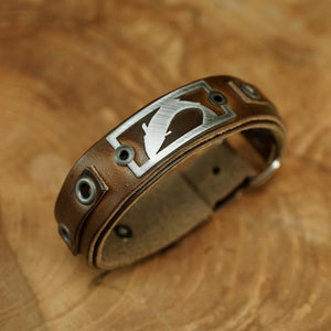 Trout Bracelet - Horween Brown