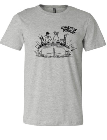 Livingston Gundogs Heather Gray Boat Tee