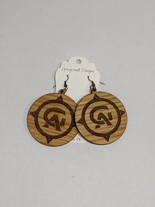 Springcreek Design Earrings by Laci Tate - Archer and Gunn Logo single sided
