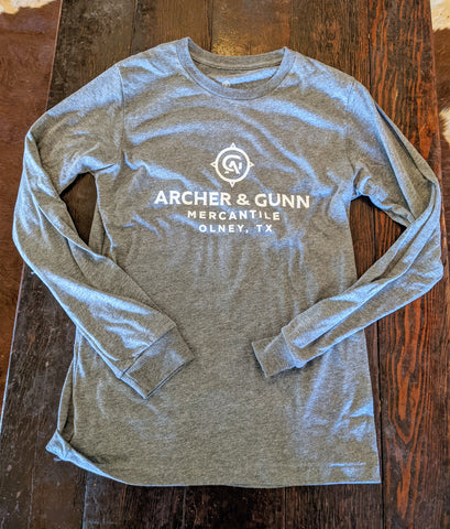 Archer & Gunn  - Store Front Long Sleeve T - Heather Gray