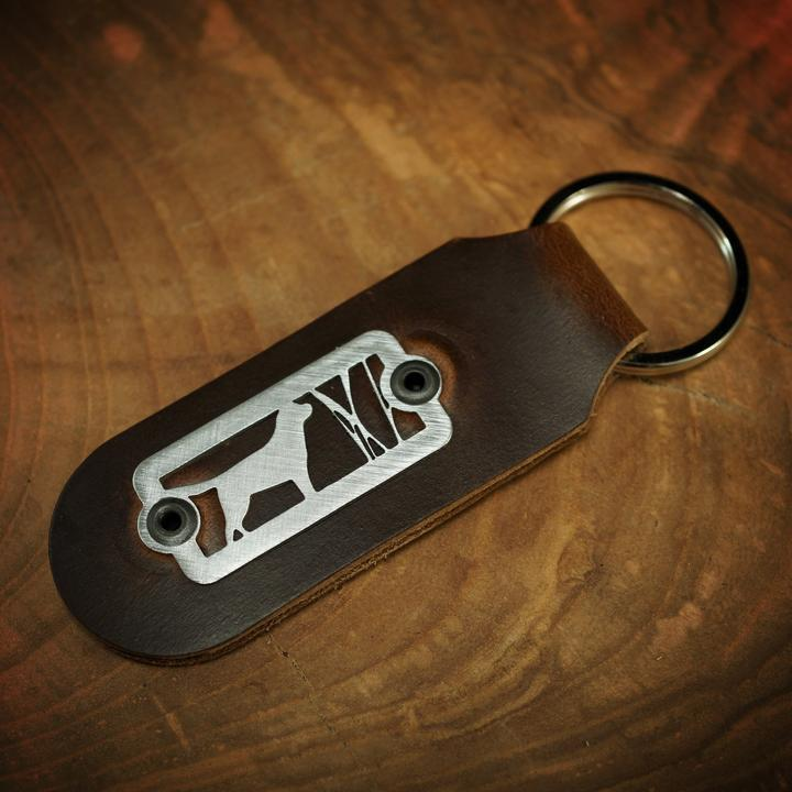 Good Dog - Labrador Retriever Key Fob - Horween Brown