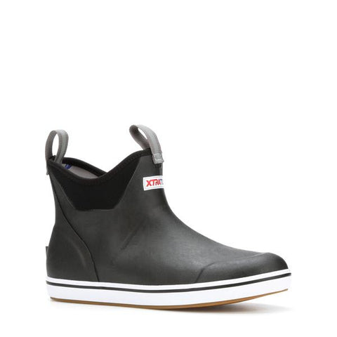 WOMEN'S 6 IN ANKLE DECK BOOT - BLACK