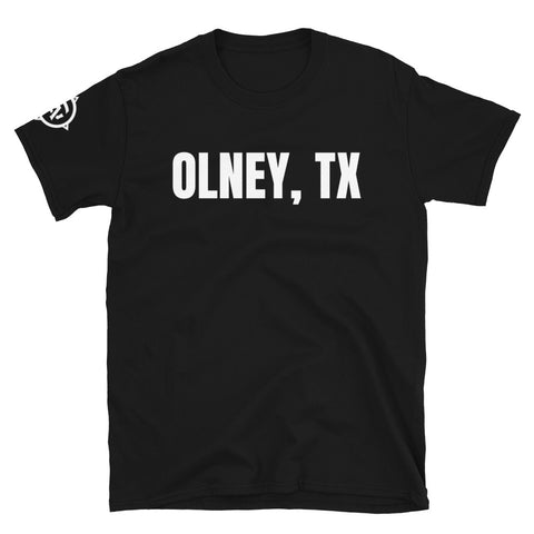 Archer and Gunn sleeve Logo - Olney, TX - Short-Sleeve Unisex T-Shirt