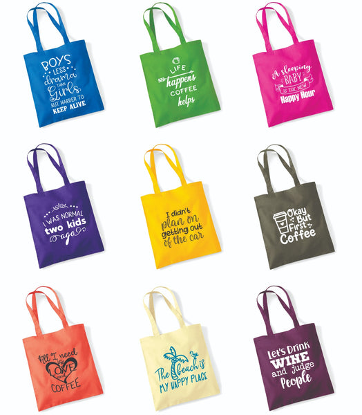 New Tote Bags in a Range of Bright Colours
