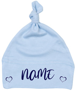 Personalised Baby Hat - Blue