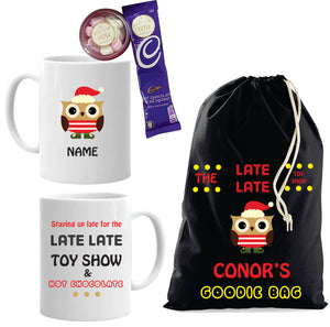 Late Late Toy Show Personalised Set (One Bag & One Mug) Black Design
