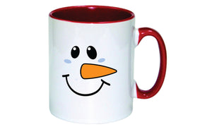 Personalised Christmas Mug (Snowman Face)