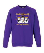 Load image into Gallery viewer, Kids Christmas Sweatshirt (Christmas with My Snowmies)