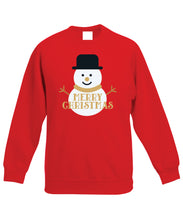 Load image into Gallery viewer, Kids Christmas Sweatshirt (Merry Christmas Snowman)