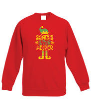Load image into Gallery viewer, Kids Christmas Sweatshirt (Santa's Little Helper)
