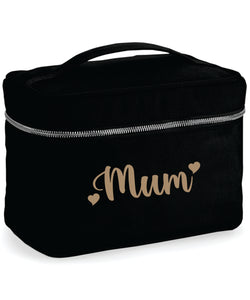Black Personalised Vanity Case
