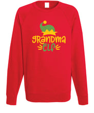Load image into Gallery viewer, Women's Christmas Sweatshirt (Grandma Elf)