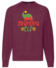 Load image into Gallery viewer, Men's Christmas Sweatshirt (Grandpa Elf)
