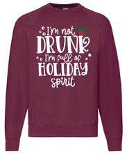 Load image into Gallery viewer, Men's Christmas Sweatshirt (I'm Not Drunk)