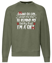 Load image into Gallery viewer, Men's Christmas Sweatshirt (I'm The Gift)